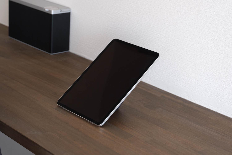 MOFT Xタブレットスタンドは縦置きもできるこれは40度