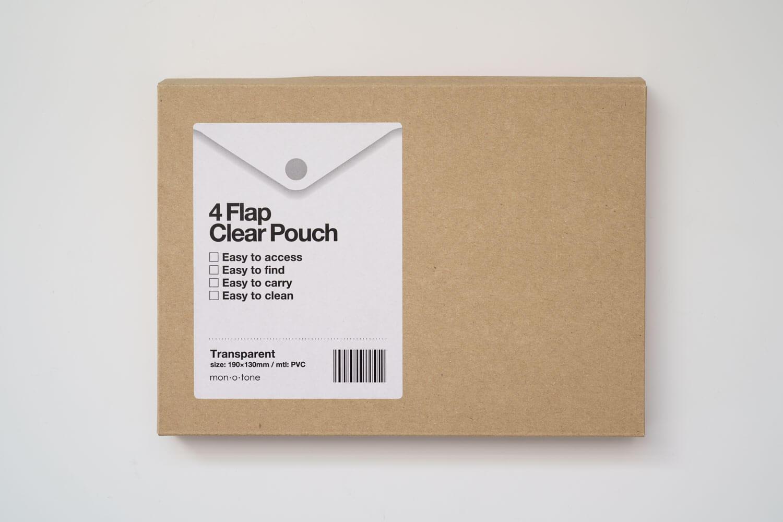 monotone クリアポーチミニ ボックスはクラフト素材