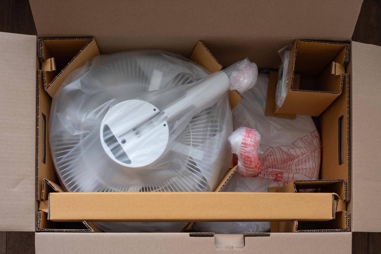 無印良品 DC扇風機 梱包方法