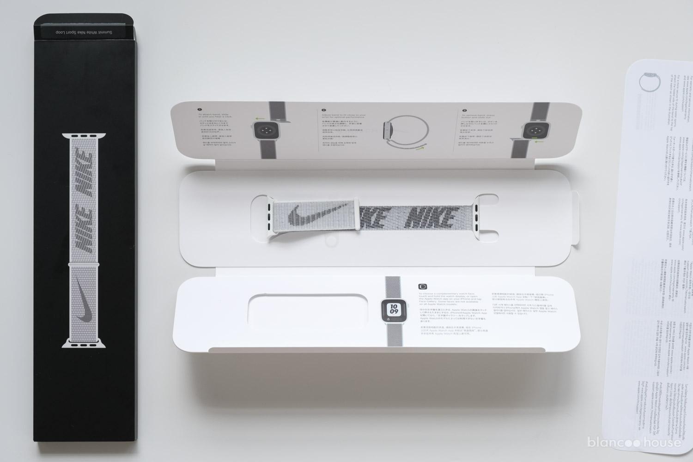 41mmケース用  Nikeスポーツループ サミットホワイト(ML2W3FE/A)のパッケージ中身