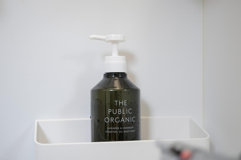 THE PUBLIC ORGANIC ボディソープ お風呂においているところ