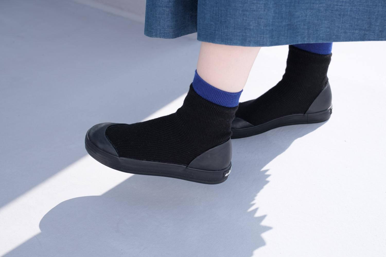 RAIN DANCE(レインダンス)ブラック 上靴デザイン サイド
