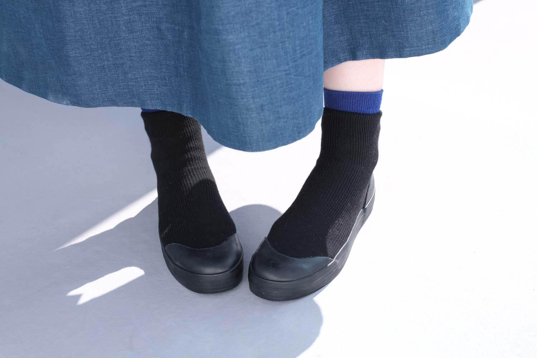 RAIN DANCE(レインダンス)ブラック 上靴デザイン 正面