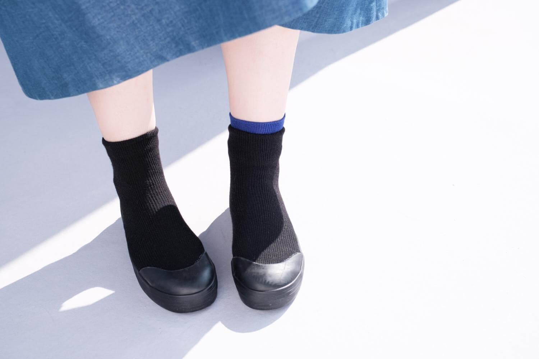 RAIN DANCE(レインダンス)ブラック 上靴デザイン 靴下ありとなし