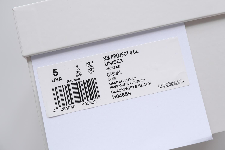 メゾンマルジェラ×リーボック クラシック レザー タビスニーカーは23.5cmから30cmまで