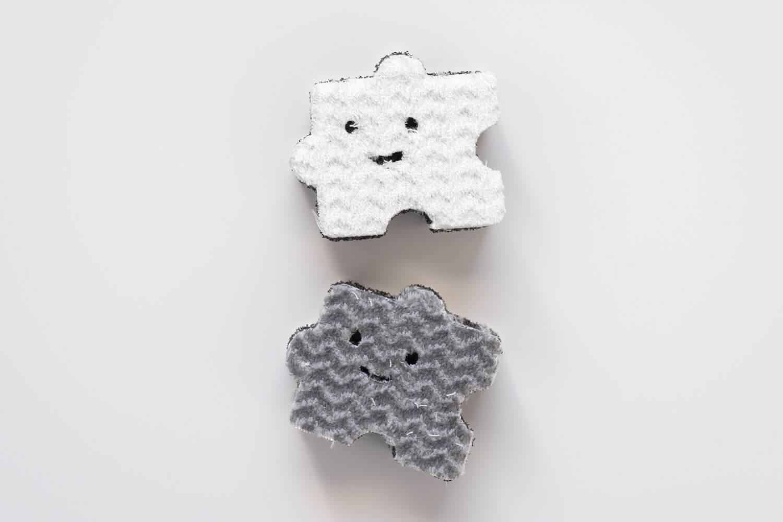 ペタッ!と貼りつくスポンジ パズル柄 ミニサイズの詳細