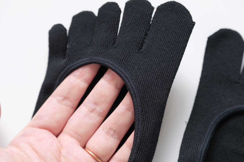 靴下屋デオドラント浅め5本指カバーソックスのゴム口部分
