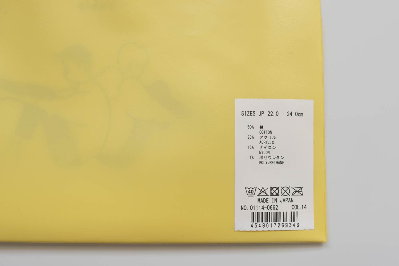 Tabio×長場雄アルファベット刺繍ソックスの素材は綿50%で消臭加工