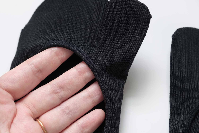 靴下屋のデオドラント足袋カバーソックス 011110185の履き口