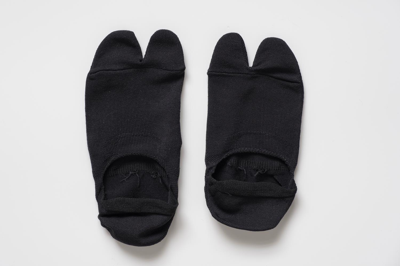 靴下屋の無地足袋深履きカバーソックス 011110134の全体