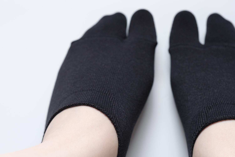 靴下屋の無地足袋深履きカバーソックス 011110134は深い