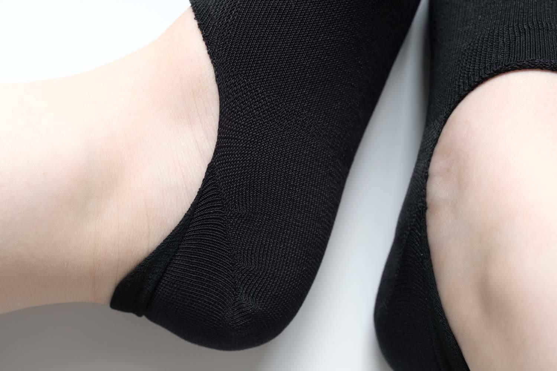 靴下屋の無地足袋深履きカバーソックス 011110134のかかと部分のアップ