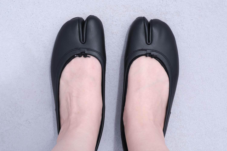 靴下屋のデオドラント足袋カバーソックス 011110185でタビバレエを履いたところ