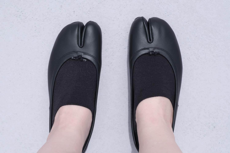 靴下屋の無地足袋深履きカバーソックス 011110134とタビバレエ