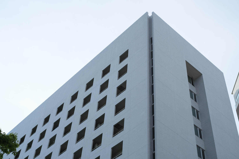 福岡タワー近くのマンション。デザインが好き!