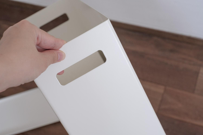 山崎実業 Plate トイレットペーパーストッカー  持ち手があります