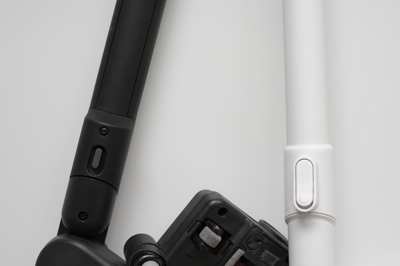 TC-E261SとTC-E262Wの接続部ボタンのデザイン