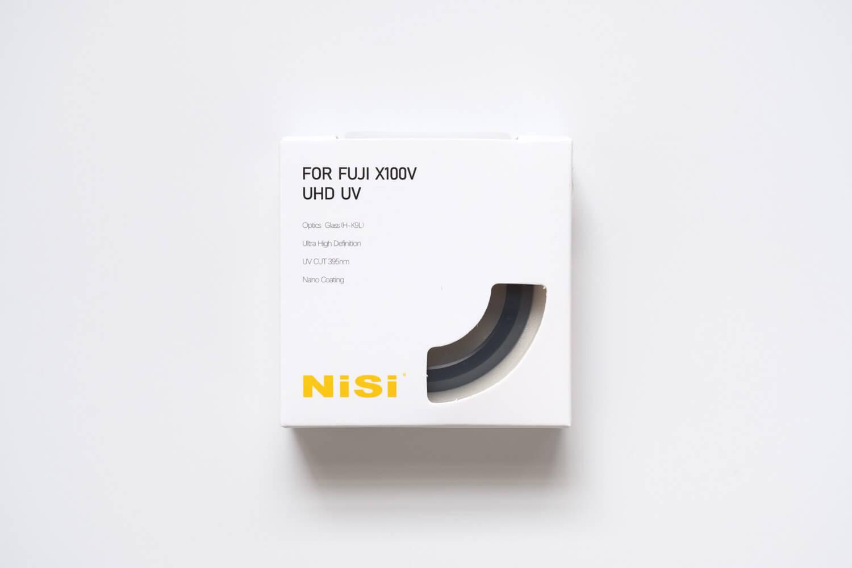 NiSi UHD UVフィルター X100シリーズ用の箱