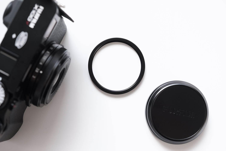 NiSi UHD UVフィルター X100シリーズ用は純正のリングを外して取り付ける