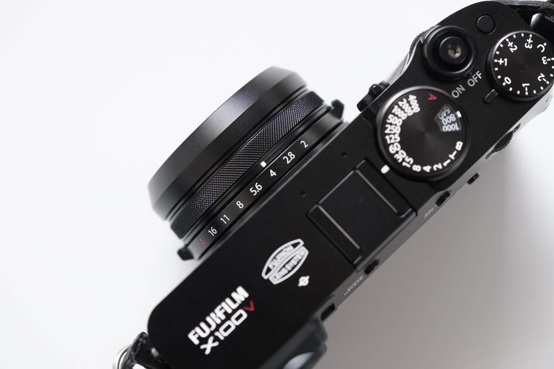 NiSi UHD UVフィルター X100シリーズ用を取り付けたところ上から